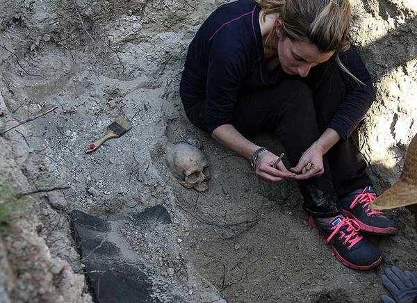 Exhumación de una fosa de la Guerra Civil