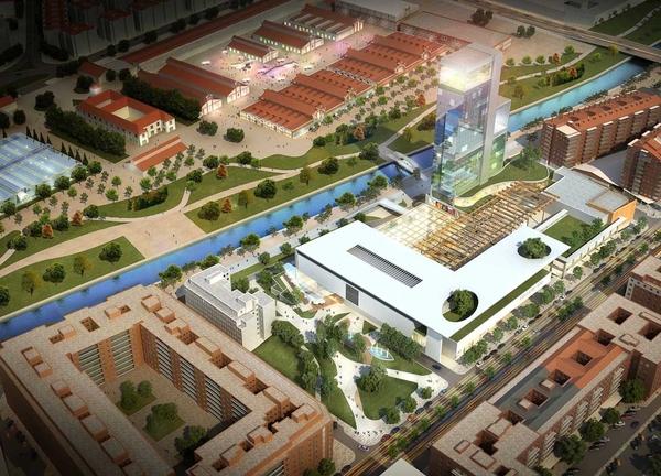 Recreación virtual del  centro comercial y hotewl que se iba a levantar en la calle Antonio López 109