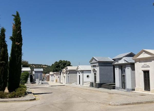 Vista general del Cementerio de Mingorrubio en El Pardo