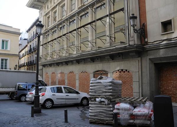El Teatro Albéniz tapiado